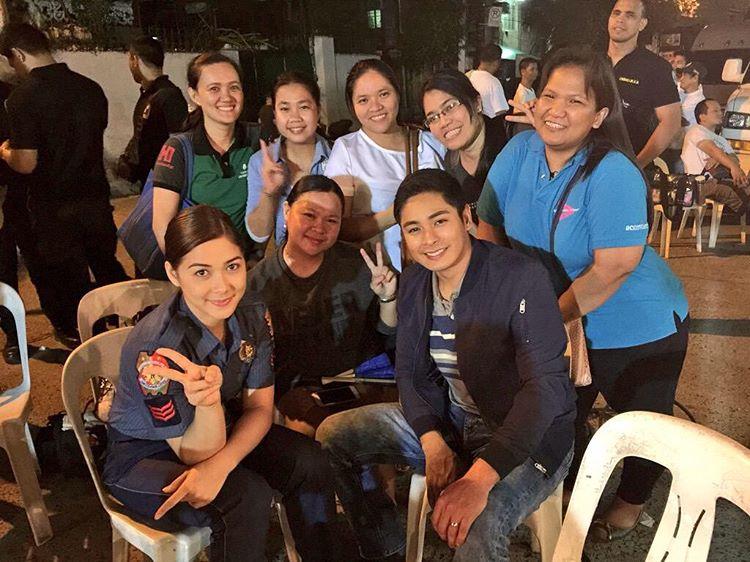 LOOK: Tambalang CocoJam sa set ng Ang Probinsyano
