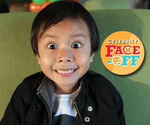 LOOK: Cardo's cute partner na si Onyok, sumabak sa Celebrity Face Off