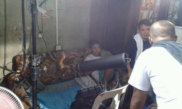 On the set of FPJ's Ang Probinsyano: Aura aka Makmak behind-the-camera