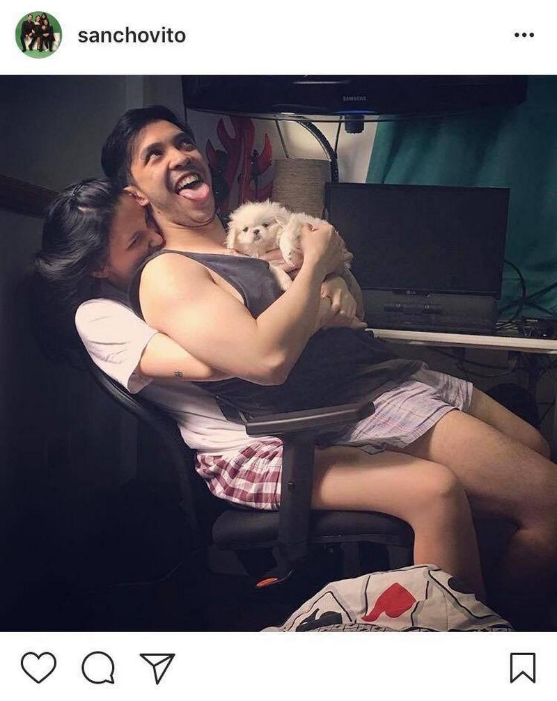 Photos of Sancho Delas Alas with his fiancé Shanna