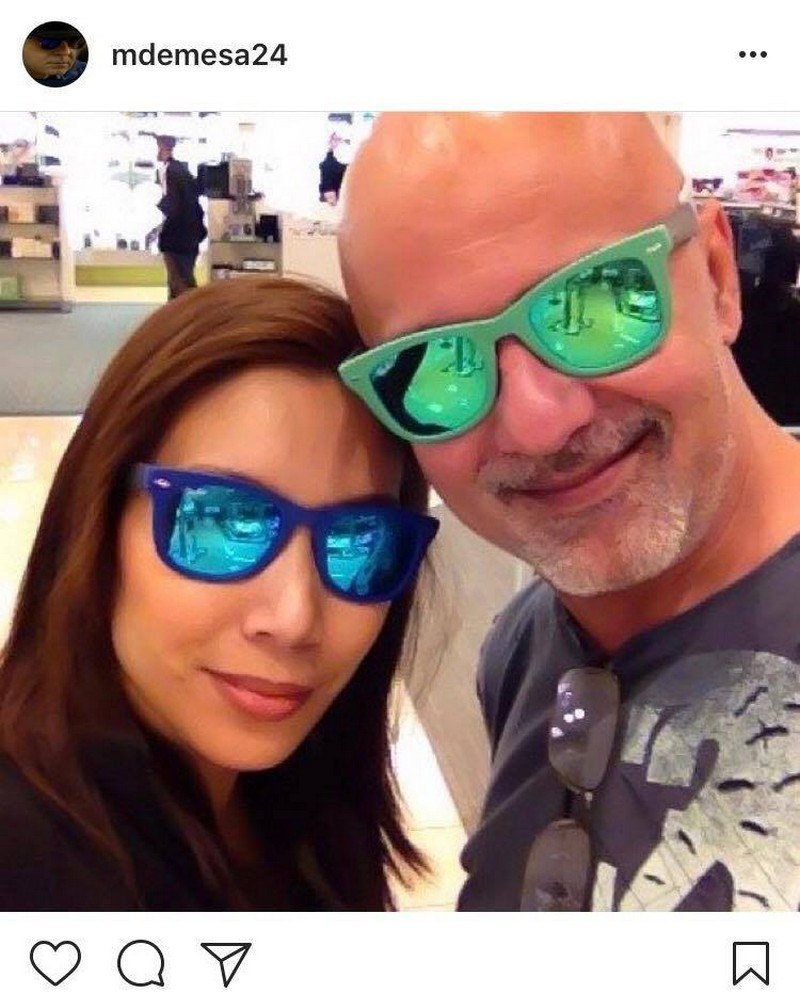 Photos of Michael De Mesa with his wife Julie