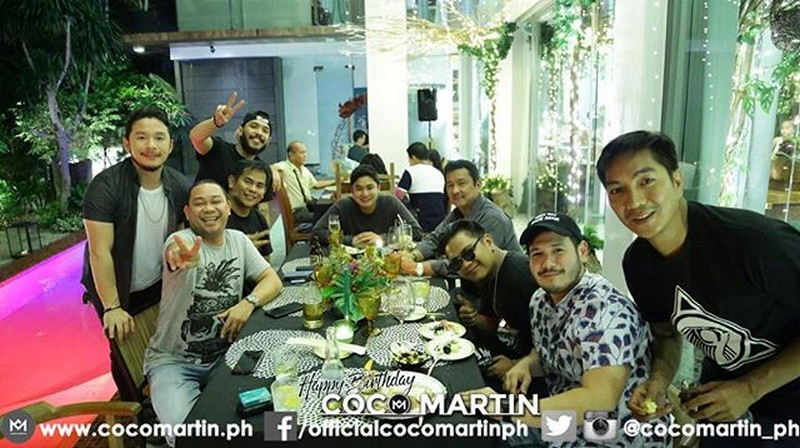"IN PHOTOS: Coco Martin celebrates birthday with "" FPJ's Ang Probinsyano"" family."