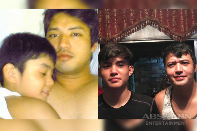 "IN PHOTOS: Mark Anthony Fernandez with his equally ""gwaping"" son"