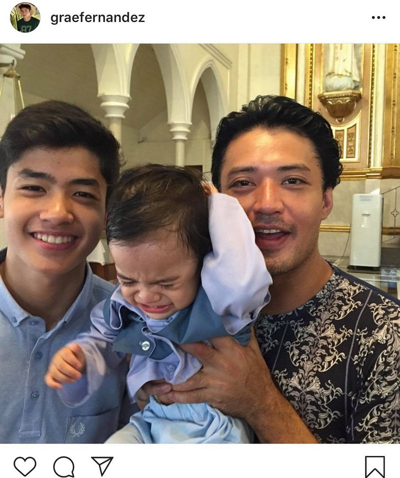 """IN PHOTOS: Mark Anthony Fernandez with his equally """"gwaping"""" son"""