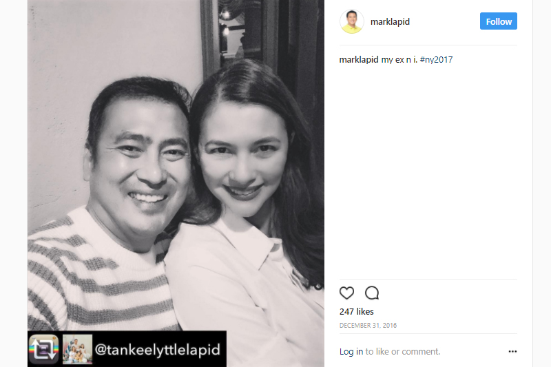 8 Years and counting! Mark Lapid with his lovable wife!