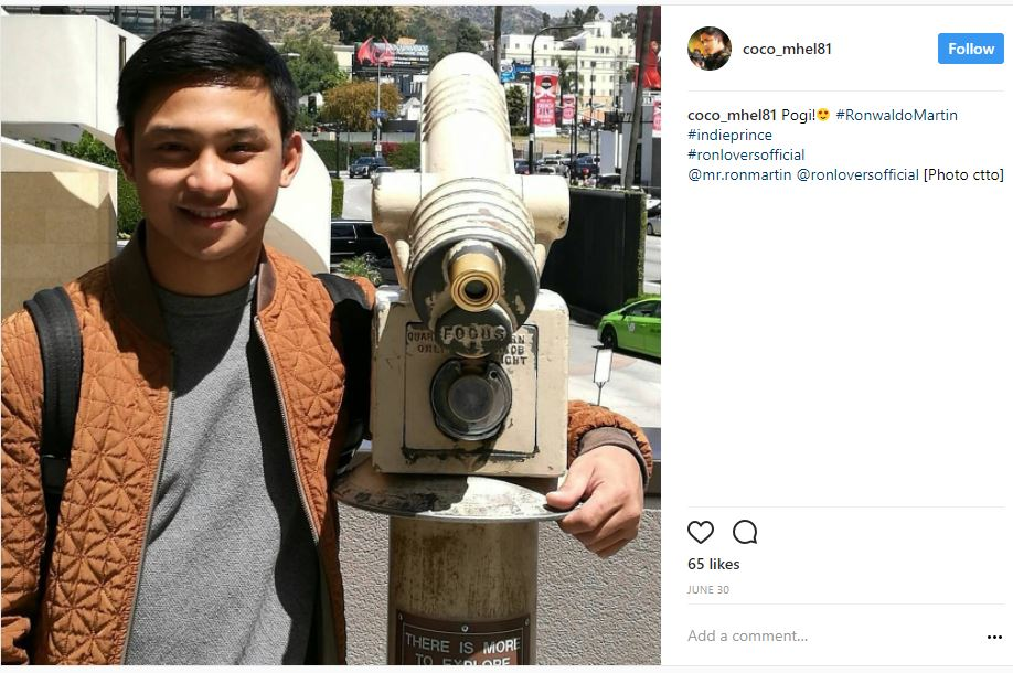 Award-winning Filipino Actor Coco Martin with his equally talented brother